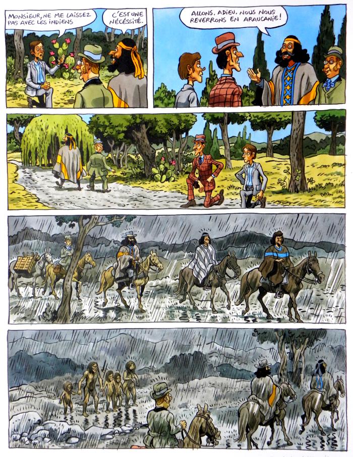 planche-originale-dumontheuil-le-roi-des-Mapuches